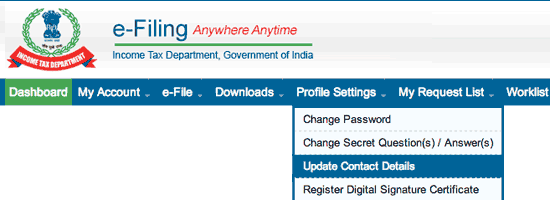 Check Income Tax Refund Status Online through Income Tax